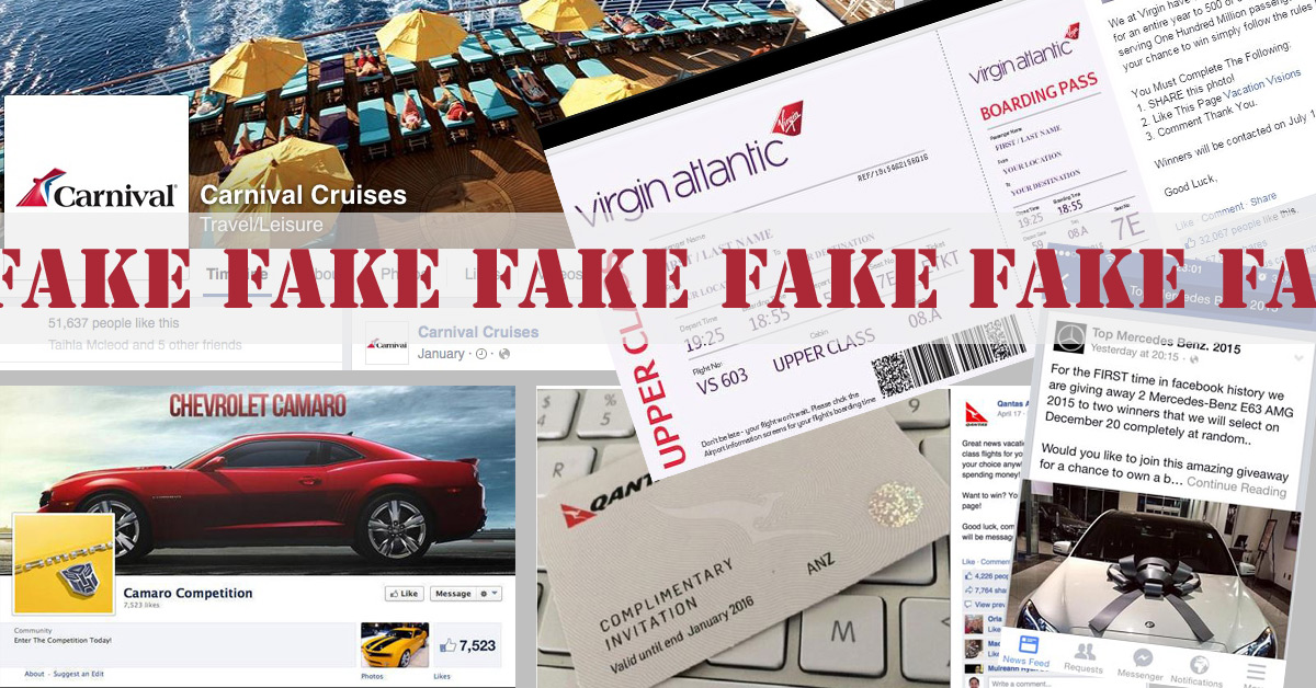 Identifying Facebook Competition Fakes from Fact